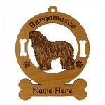 1701 Bergamasco Standing Ornament Personalized with Your Dog's Name