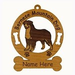 1714 Bernese Mountain Dog #1 Standing Ornament Personalized with Your Dog's Name