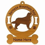 1727 Bernese Mountain Dog 2 Standing Ornament Personalized with Your Dog's Name