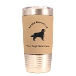 1727 Bernese Mountain Dog Standing #2 20oz Polar Camel Tumbler with Lid Personalized with Your Dog's Name