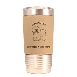 1740 Bichon Frise Standing #1 20oz Polar Camel Tumbler with Lid Personalized with Your Dog's Name