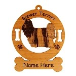 1750 Biewer Terrier Standing Ornament Personalized with Your Dog's Name