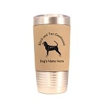 1766 Black and Tan Coonhound Standing #1 20oz Polar Camel Tumbler with Lid Personalized with Your Dog's Name