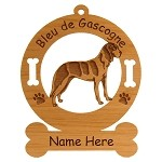 1785 Bleu de Gascogne Grand Standing Ornament Personalized with Your Dog's Name