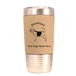 1792 Bloodhound Standing #1 20oz Polar Camel Tumbler with Lid Personalized with Your Dog's Name