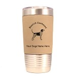 1809 Bluetick Coonhound Standing 20oz Polar Camel Tumbler with Lid Personalized with Your Dog's Name
