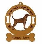 1809 Bluetick Coonhound Standing Ornament Personalized with Your Dog's Name