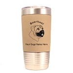 1810 Boerboel Head 20oz Polar Camel Tumbler with Lid Personalized with Your Dog's Name