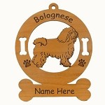 1814 Bolognese Standing Ornament Personalized with Your Dog's Name