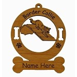 1817 Border Collie A Frame Ornament Personalized with Your Dog's Name