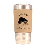 1846 Border Collie Herding #2 20oz Polar Camel Tumbler with Lid Personalized with Your Dog's Name