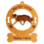 1848 Border Collie Gaiting Ornament Personalized with Your Dog's Name