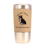 1883 Border Collie Sitting 20oz Polar Camel Tumbler with Lid Personalized with Your Dog's Name
