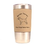 1896 Border Terrier Standing 20oz Polar Camel Tumbler with Lid Personalized with Your Dog's Name