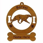 1911 Borzoi Gaiting Ornament Personalized with Your Dog's Name