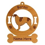 1913 Borzoi Standing #2 Ornament Personalized with Your Dog's Name