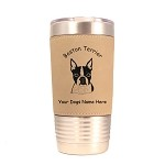1920 Boston Terrier Head #1 20 oz Polar Camel Tumbler with Lid Personalized with Your Dog's Name