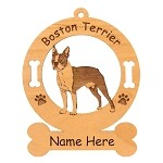 1921 Boston Terrier Standing #2 Ornament Personalized with Your Dog's Name
