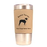 1923 Boston Terrier Standing 20 oz Polar Camel Tumbler with Lid Personalized with Your Dog's Name