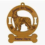 1935 Bouvier des Flandres Standing Ornament Personalized with Your Dog's Name