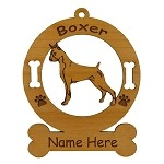 1946 Boxer Standing Ornament Personalized with Your Dog's Name