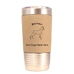1946 Boxer Standing #1 20 oz Polar Camel Tumbler with Lid Personalized with Your Dog's Name