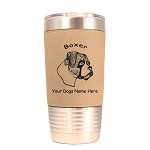 1949 Boxer Head Uncropped #1 20 oz Polar Camel Tumbler with Lid Personalized with Your Dog's Name