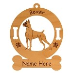 1951 Boxer Standing Angled Ornament Personalized with Your Dog's Name