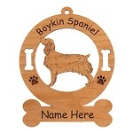 1962 Boykin Spaniel Standing Ornament Personalized with Your Dog's Name