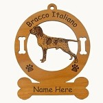 1970 Bracco Italiano Standing Ornament Personalized with Your Dog's Name
