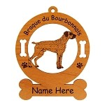 1972 Braque du Bourbonnais Standing Ornament Personalized with Your Dog's Name