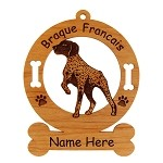 1974 Braque Francais Pointing Ornament Personalized with Your Dog's Name
