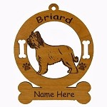 1976 Briard Standing Ornament Personalized with Your Dog's Name
