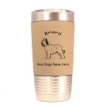 1976 Briard Standing #1 20 oz Polar Camel Tumbler with Lid Personalized with Your Dog's Name