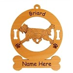 1977 Briard Gaiting Ornament Personalized with Your Dog's Name