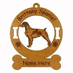 1989 Brittany Standing Ornament Personalized with Your Dog's Name