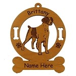 1990 Brittany Standing 2 Ornament Personalized with Your Dog's Name