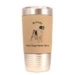1990A Brittany Facing Forward 20 oz Polar Camel Tumbler with Lid Personalized with Your Dog's Name