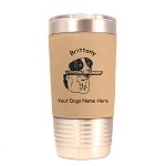 1991 Brittany with Stick 20 oz Polar Camel Tumbler with Lid Personalized with Your Dog's Name