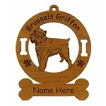 2004 Brussels Griffon Standing Ornament Personalized with Your Dog's Name