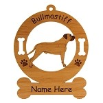 2023 Bullmastiff  Standing #2 Ornament Personalized with Your Dog's Name