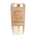 2036 Bull Terrier Standing #2 20 oz Polar Camel Tumbler with Lid Personalized with Your Dog's Name