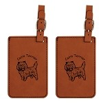 Cairn Terrier Luggage Tag 2 Pack L2047