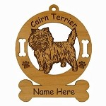 2047 Cairn Terrier Standing Ornament Personalized with Your Dog's Name