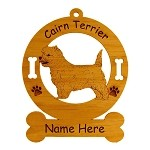 2049 Cairn Terrier Standing #3 Ornament Personalized with Your Dog's Name
