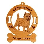 2049 Cairn Terrier Standing #2 Ornament Personalized with Your Dog's Name