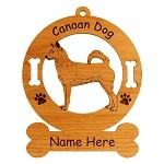 2060 Canaan Dog Standing #2 Ornament Personalized with Your Dog's Name