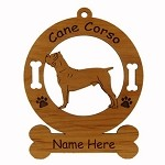 2071 Cane Corso Standing Ornament Personalized with Your Dog's Name