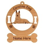 2075 Carolina Dog Lying Ornament Personalized with Your Dog's Name