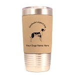 2078 Catahoula Leopard Dog Standing #1 20 oz Polar Camel Tumbler with Lid Personalized with Your Dog's Name